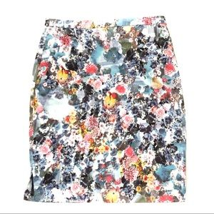 H&M Floral Victorian Straight Pencil Lined Skirt 6